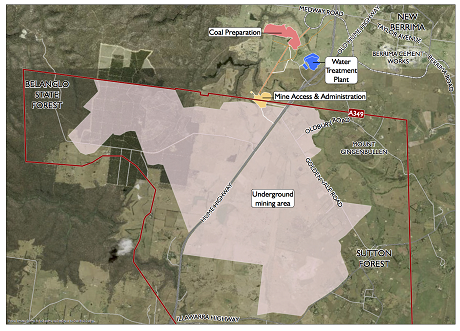 The proposed Hume underground mine would produce around 3mtpa of coal.