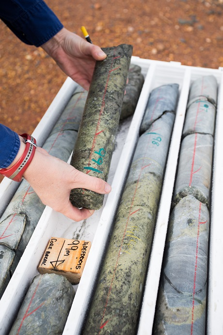Core samples from Doray Minerals' Deflector project.