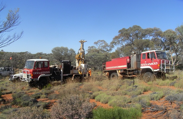 Drilling at the Cyclone deposit began in 2007.